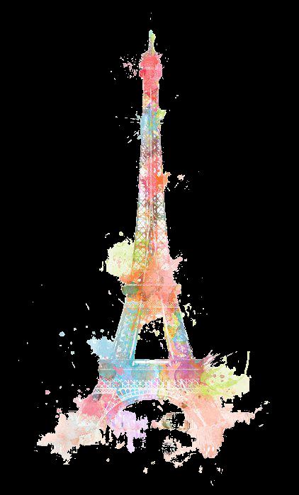 render Torre Eifel Acuarelas