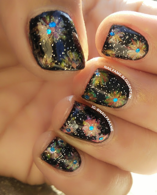 DIWALI CRACKERS NAILART