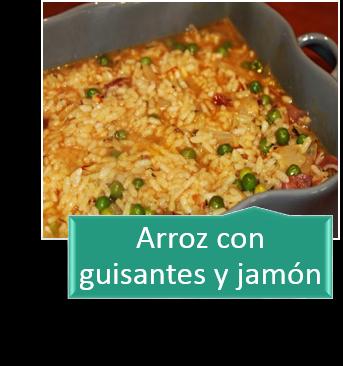 ARROZ CON GUISANTES Y JAMÓN