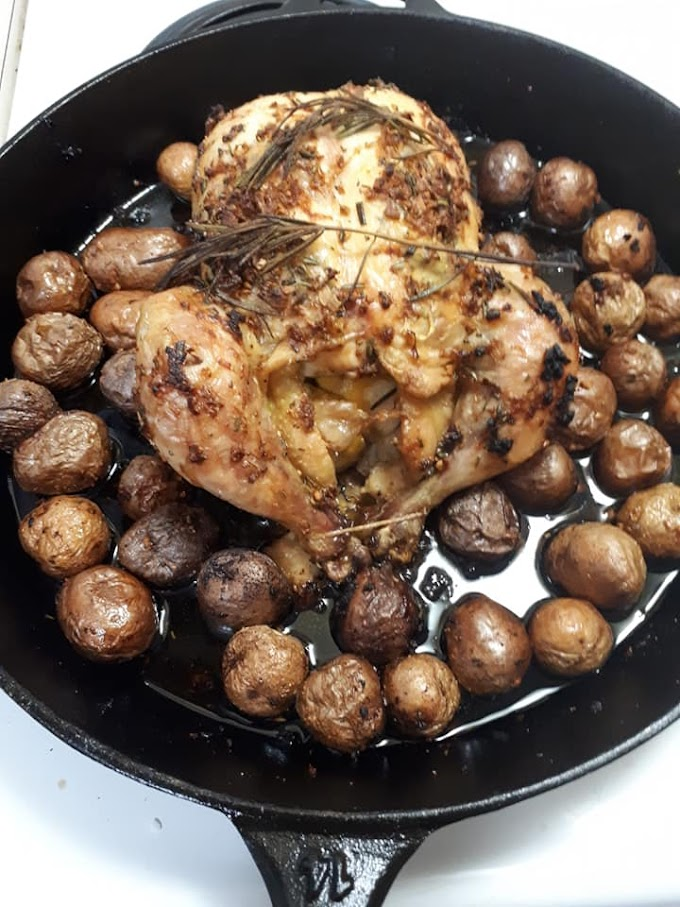 Lemony Garlic Rosemary Chicken With Potatoes