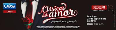 """Concierto de Amor y Amistad 2018 """"CLÁSICAS DEL AMOR"""""""