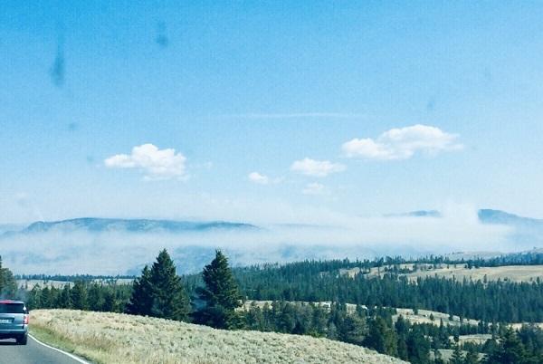 Blick in die unendliche Weite des Yellowstones...