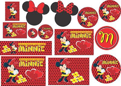 varios adesivos personalizados da minnie