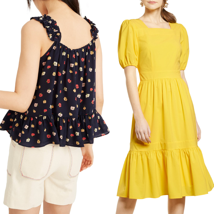 nordstrom half yearly sale, rachel parcell dress, madewell camisole confetti