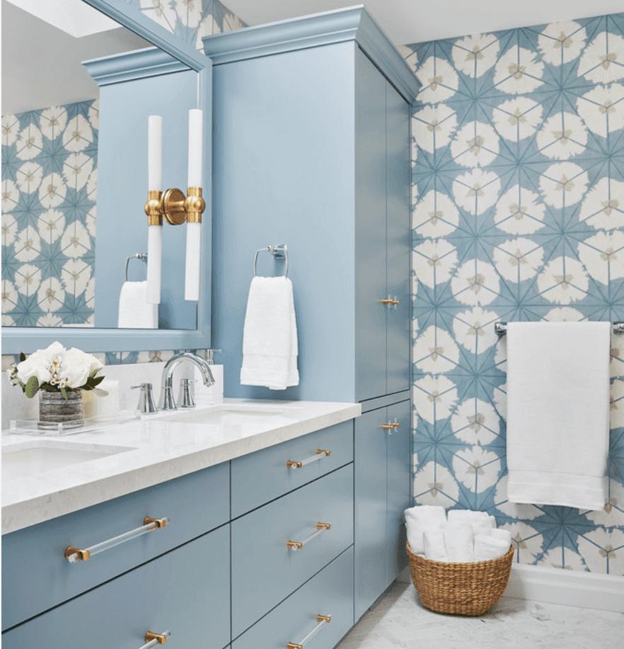 Light Blue Wallpaper For Bathroom Novocom Top