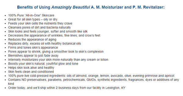 benefits of Amazingly Beautiful