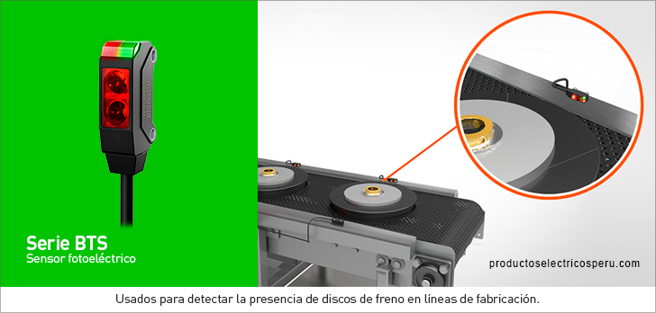 Sensor fotoelectrico Serie BTS - Autonics Peru