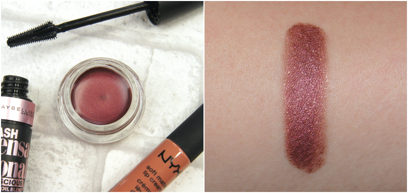 maybelline color tattoo 24hr cream eyeshadow metallic pomegranate review swatch