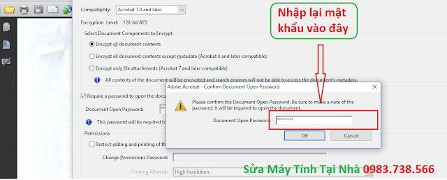 Đặt mật khẩu file PDF với Acrobat - H04