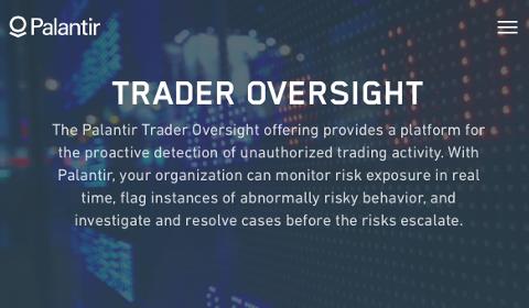 Palantir – Trader Oversight