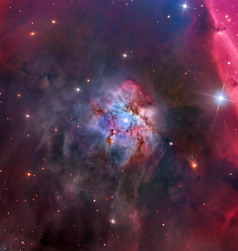 NGC 2023 và cái bóng quá lớn của Tinh vân Đầu Ngựa. Hình ảnh: Steve Mazlin, Mark Hanson, Warren Keller, Rex Parker, Tommy Tse, và Peter Proulx (SSRO / PROMPT / CTIO).