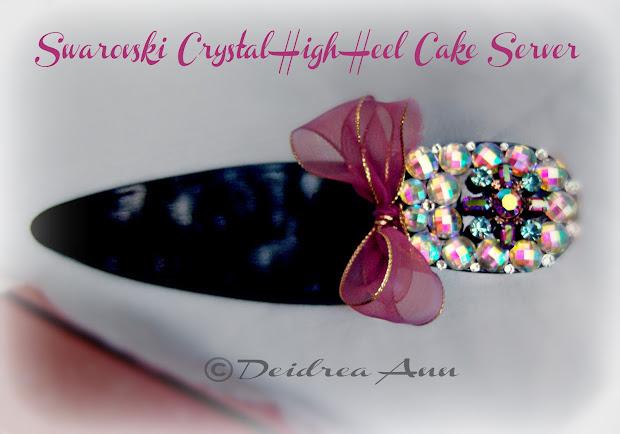 Suzy Homefaker High Heel Crystal Cake Server