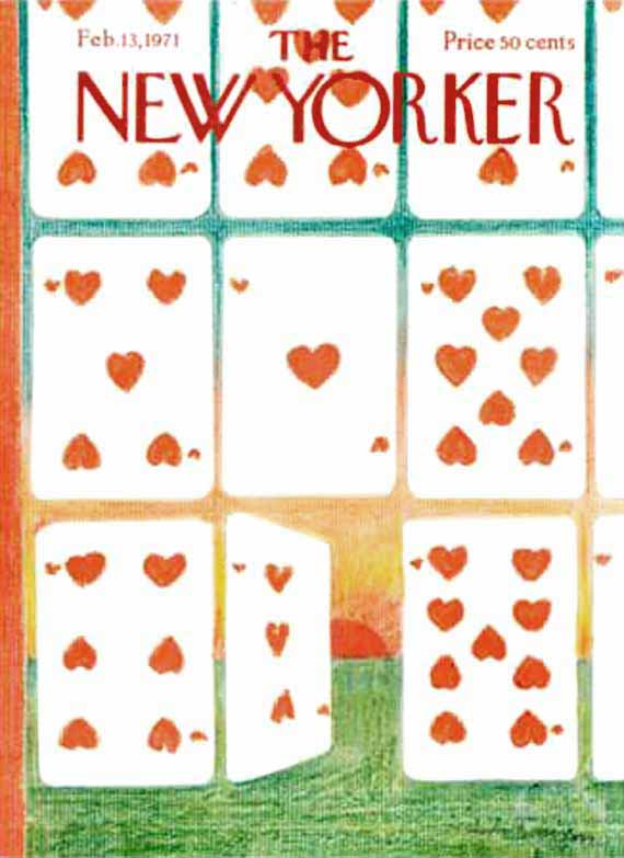 valentine's day, magazine covers, the new yorker, andre francois illustration