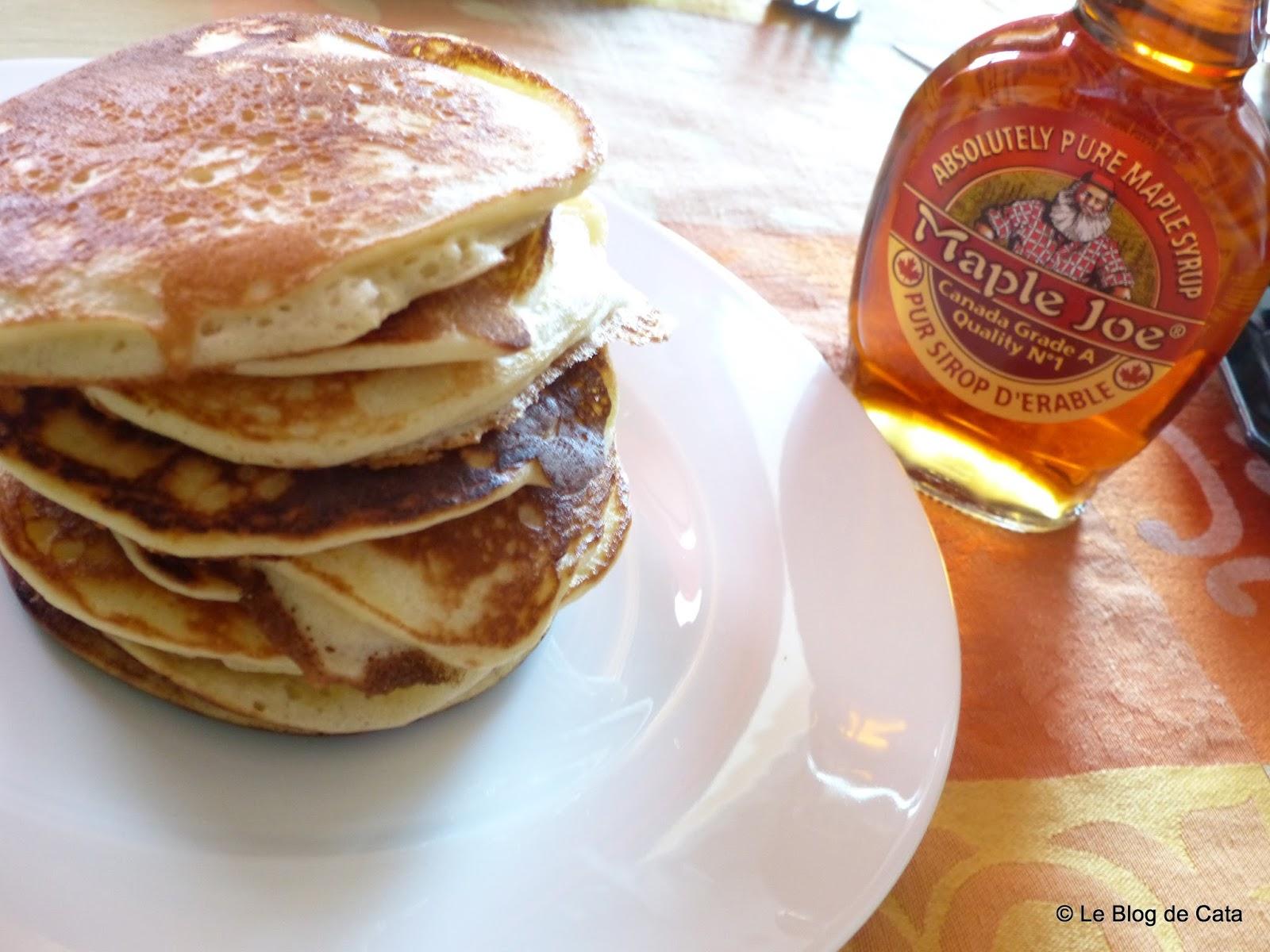 Le blog de Cata: Pancakes authentiques au sirop d'érable