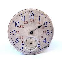 reloj del siglo pasado marcando 24 horas
