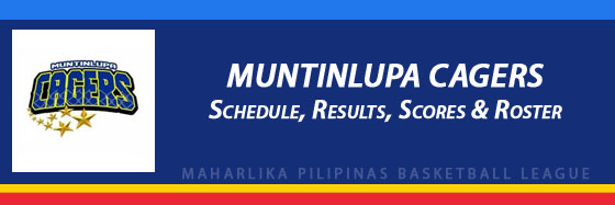 MPBL: Muntinlupa Cagers Schedule, Results, Scores, Roster
