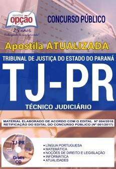 Apostila TJ/PR 2018 para Técnico Judiciário - atualizada