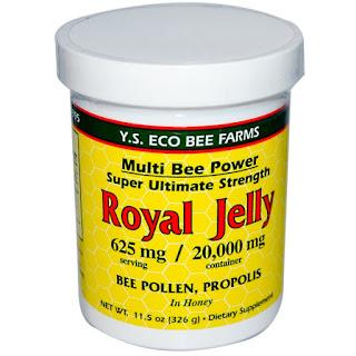 خلطة غذاء ملكة النحل بالعسل مع حبوب اللقاح والعكبر