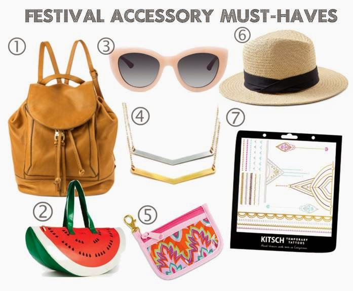 Festival fashion accessory must-haves for the 2015