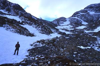 Última subida a la Laguna de los Témpanos y al glaciar de Vinciguerra, Ushuaia, Argentina.