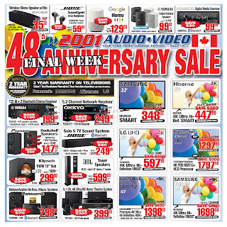2001 Audio Video Flyer Canada April 27 - May 03, 2019