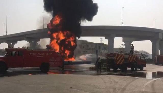 Plastic pipes catch fire in Multan
