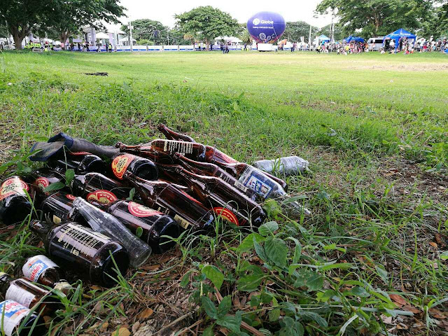 Supporters say that bottles were not from thanksgiving party, they have been there before party