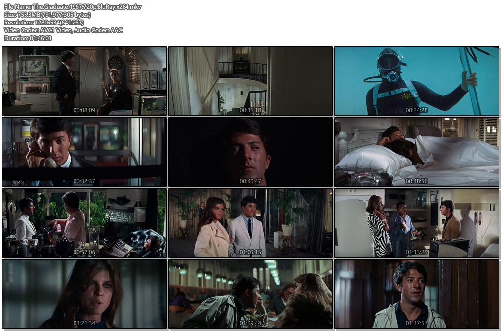 The Graduate 1967 720p BluRay 750MB x264 Movie Screenshots