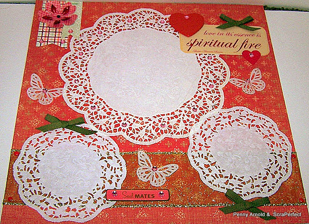 Titlelearn How To Make Scrapbook Layouts With Doilies Scrap Aholic