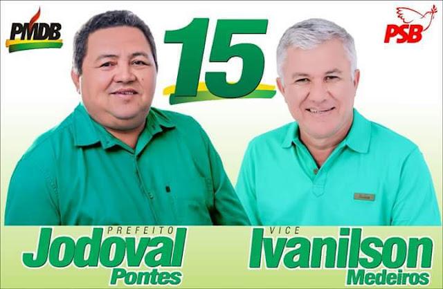 Resultado de imagem para Jodoval Pontes e seu vice