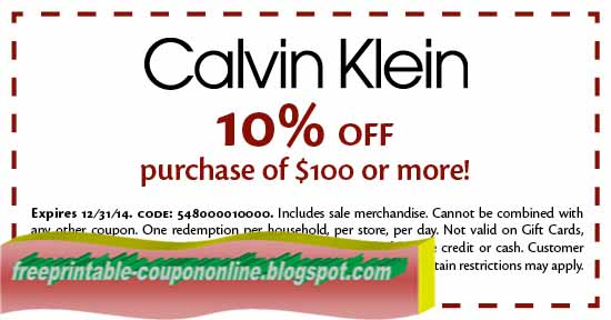 image relating to Calvin Klein Printable Coupon titled Printable Coupon codes 2019: Calvin Klein Coupon codes