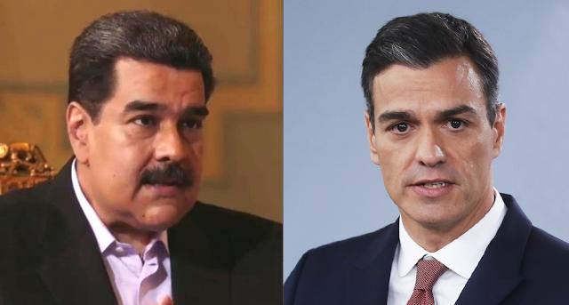 """Maduro compara a Pedro Sánchez con Aznar por """"arrodillarse"""" ante Trump"""