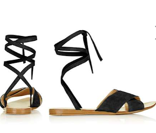 Topshop Havana Tie Up Sandals