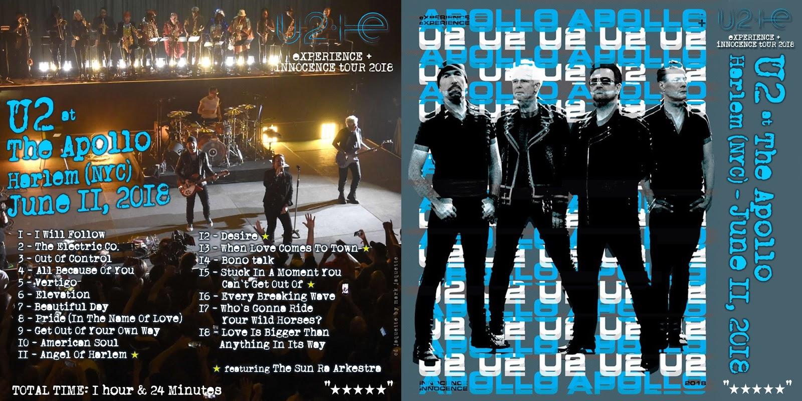 illustrationISM: U2 at The Apollo, June 11, 2018 !