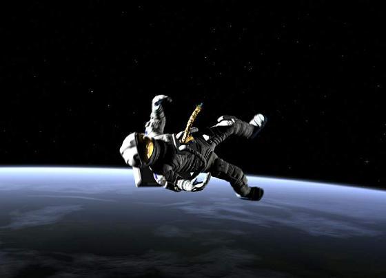 Astronauta Flotando En El Espacio Exterior: Síndrome De Einstein: No Espaço Sem Traje Espacial?