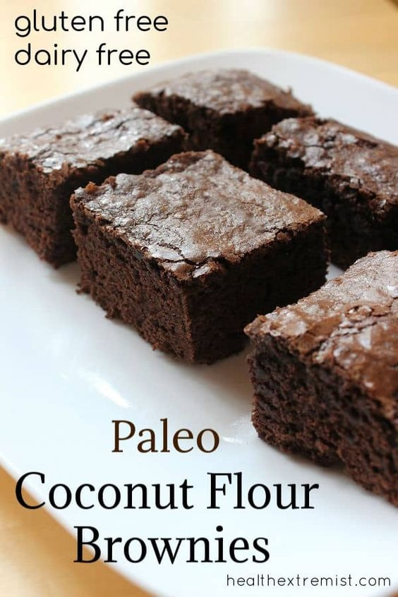 Paleo Brownies Made With Coconut Flour
