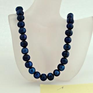 Zuchtperlenkette tahiti-blau