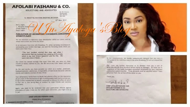 Opemititi Ajayi Slams Linda Ikeji And Mercy Aigbe With N500Million Lawsuit