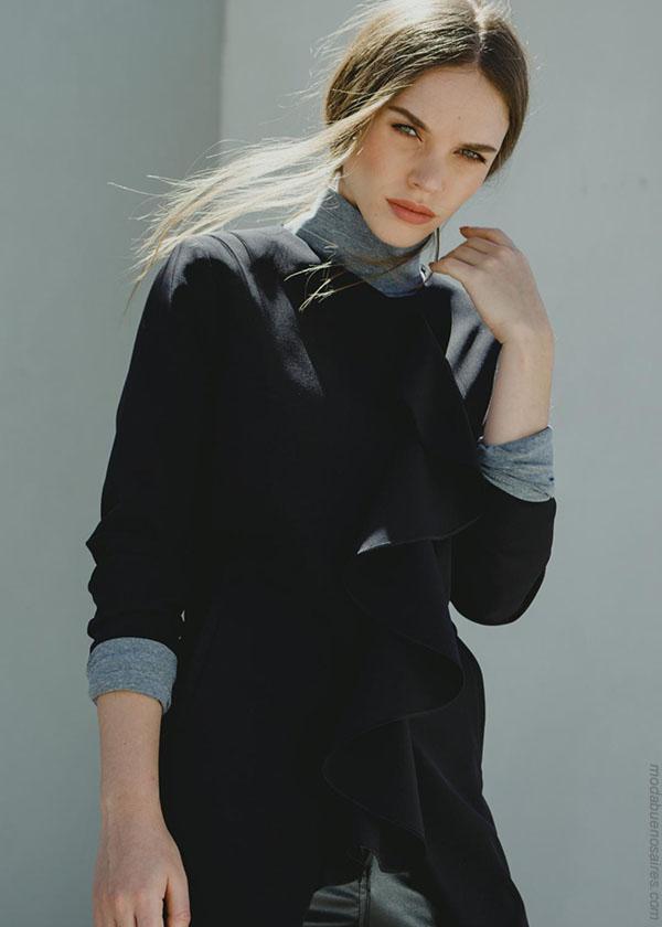 Tapados y sacos de moda invierno 2018. Ropa de invierno 2018.