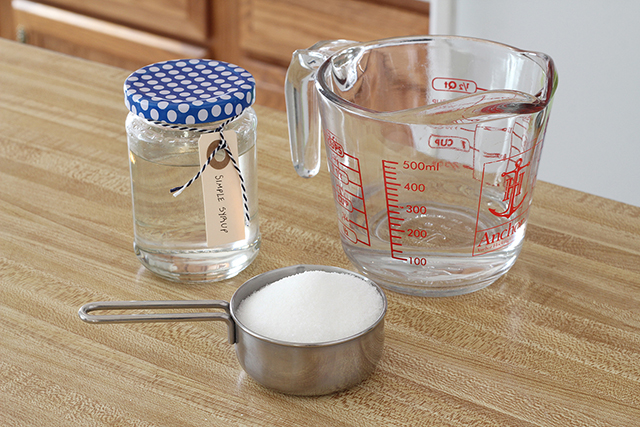Simple Syrup Recipes Making Syrups Sugar Water Measuring Cup