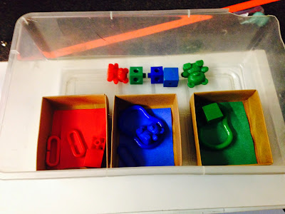 Task Boxes in Special Education Classroom