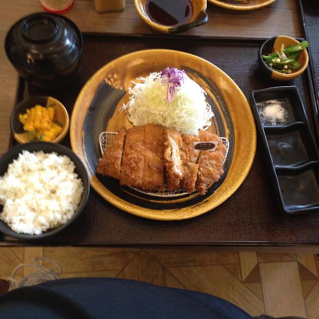 Kurobota Katsu meal set at Tonkatsu