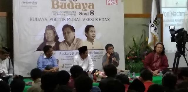 Rocky: Ruang Publik Sekarang Dikendalikan Kaum Sontoloyo
