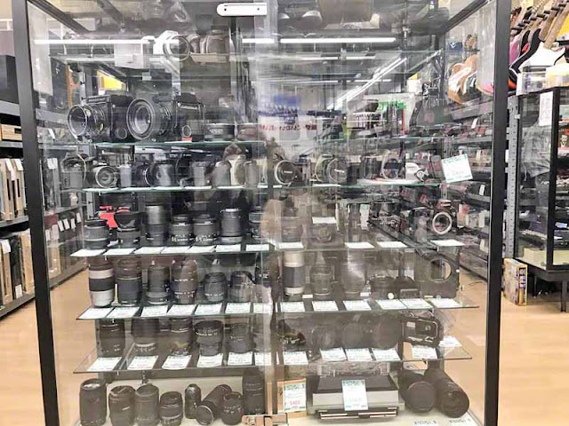 cameras, lenses, used