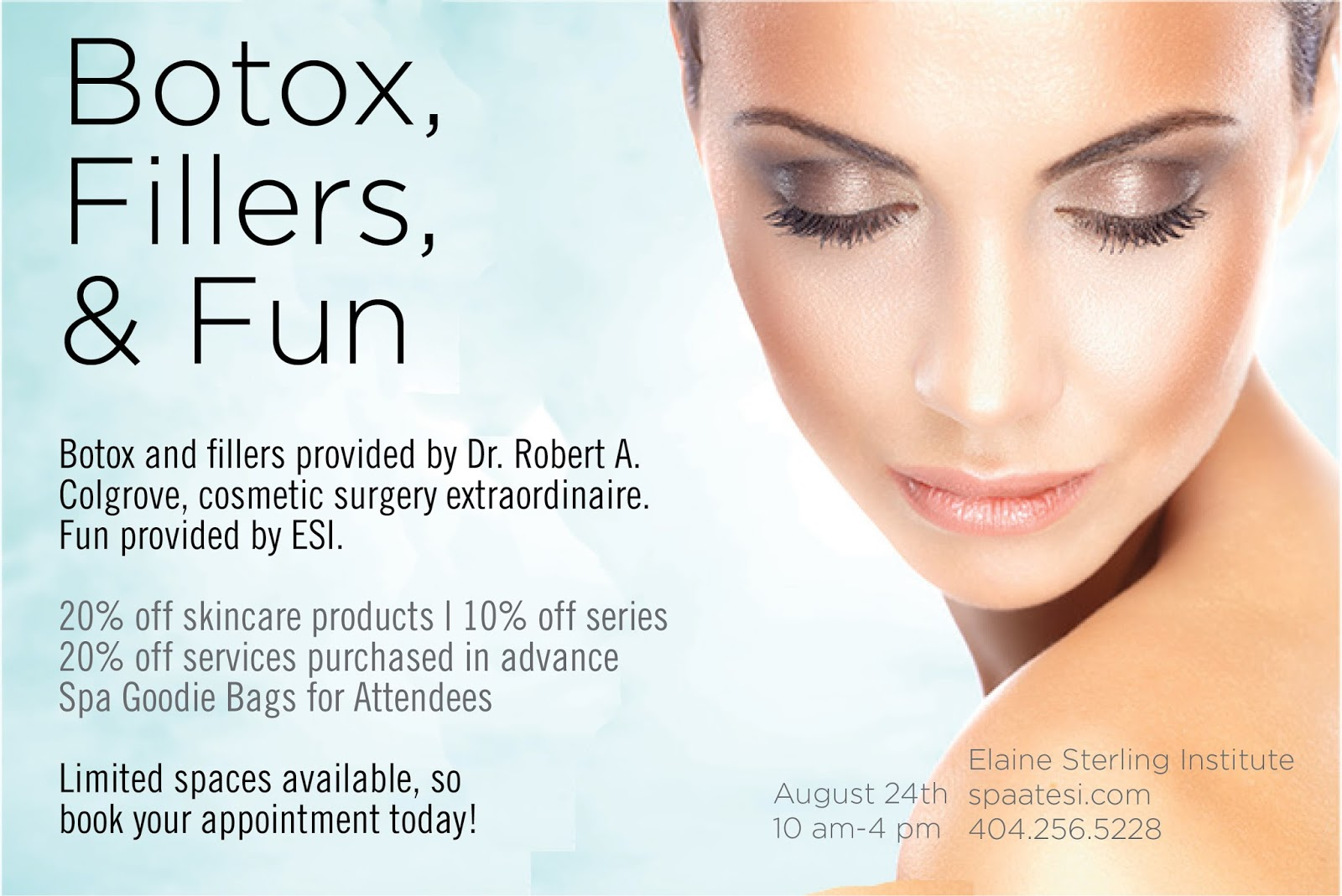 Elaine Sterling Skincare Institute: Botox, Fillers, and Fun