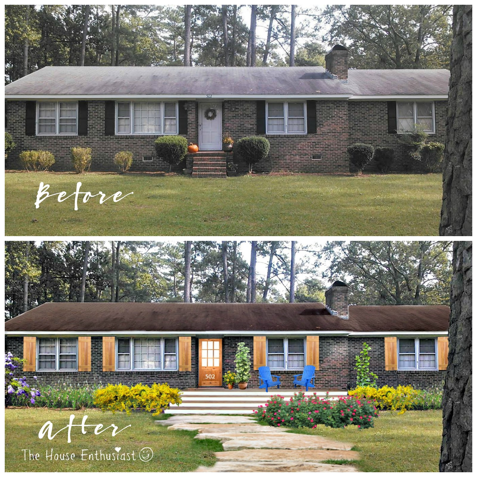 The house enthusiast before and after house makeovers for Before and after exterior home makeovers