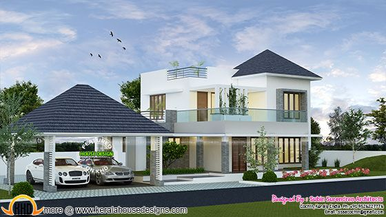2123 square feet modern house with separate porch