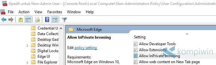 matikan nonaktifkan private browsing