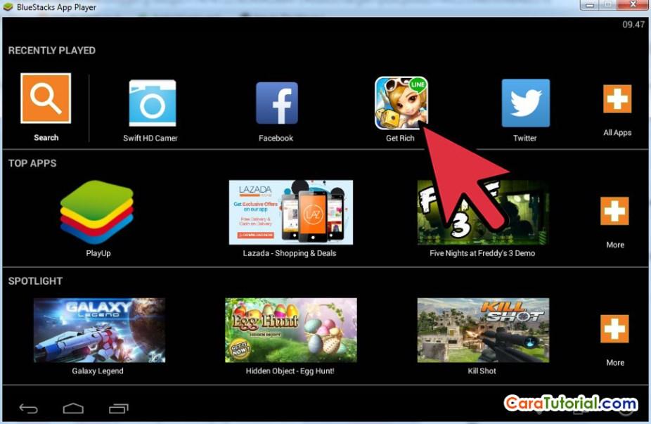 Main Game LINE Let's Get Rich di Komputer atau Laptop