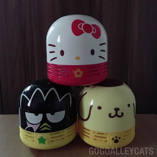 Sanrio Hello Kitty Bad Badtz Maru and Pompompurin Desktop Cleaners